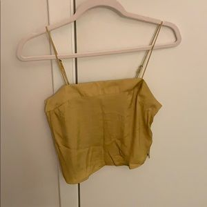 Urban Outfitters Golden Yellow Crop Top XS